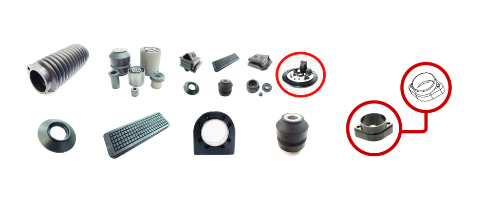 Rubber Molded Engine Mounts and Bushings